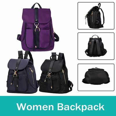 Ladies Womens Girl Backpack Travel Canvas Handbag Rucksack Shoulder School Bag