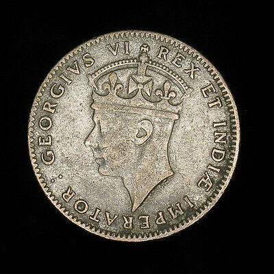 1942 East Africa 50 cents 1/2 half shilling - silver
