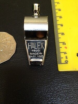 Vintage Old English Made Halex Chrome Whistle