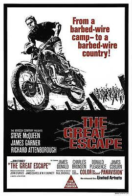 The Great Escape Movie POSTER 27 x 40, Tom Adams, Steve McQueen, AA, LICENSED