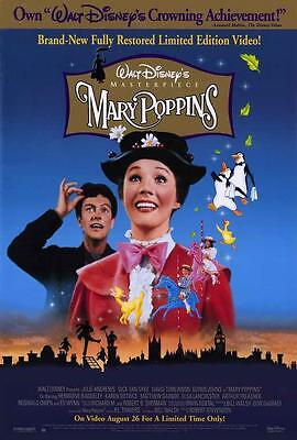 Mary Poppins Movie POSTER 27 x 40 Julie Andrews, Dick Van Dyke, A, LICENSED NEW