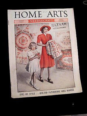 Home Arts Needlecraft Magazine July 1939 Issue -- Quilted Patchwork Goes Modern