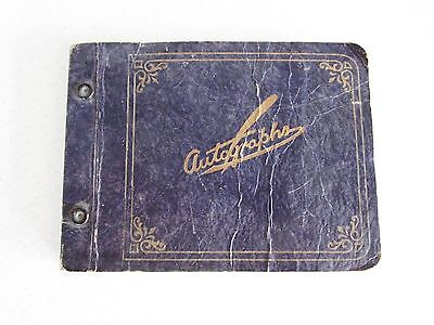 WWII Era School Autograph Book with Poems Notes Autographs Vintage Americana