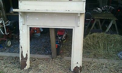 Antique fireplace mantel wooden pine oak vintage antique nice