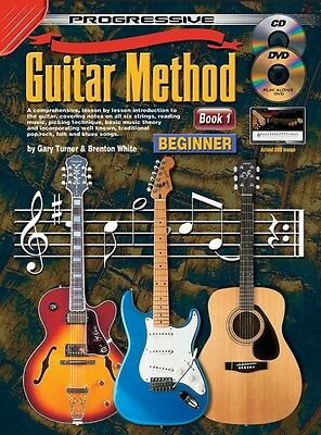 Progressive Guitar Method Book 1 - Beginner Book with FREE CD/DVD & Chord Poster