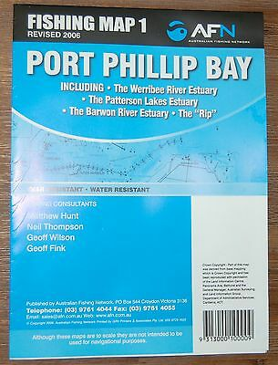 Fishing Map 1 Port Phillip Bay Tear & Water Resistant