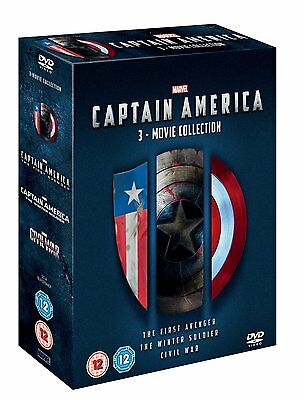 Captain America 1-3 Movie Collection 1 2 3 Dvd Box Englisch