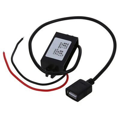 Car Charger Converter 12V To 5V 3A 15W Step Down Module With USB Cable TS