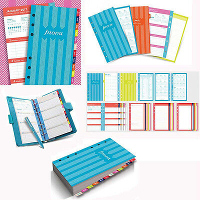 Filofax A6 Personal Stripes Illustrated Diary Refill Pack Insert Planner 17-6343