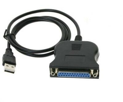 CabledUp® USB 2.0 Male to 25 Pin DB25 Female Parallel Port Printer Adapter Cable