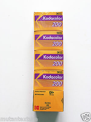 5 x Kodak Kodacolor ISO ASA 200 35mm 135mm film color FREE SHIPPING WORLWIDE