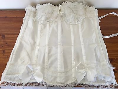 """corset"" Gorgeous Off White Sating Corset Size ""xl"" *like New*"