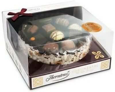 Thorntons Chocolates Continental Nougat Cake / Casket with Continental Selection