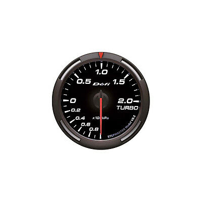 Defi 60Mm Racer Turbo Boost Gauge White