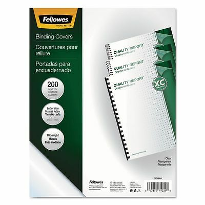 Fellowes Crystals Clear Presentation Binding Covers  - FEL5204303