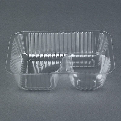 King Two Compartment Small Plastic Nacho Tray - 500/Case Fast Shipping!