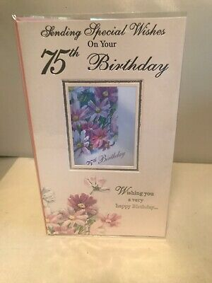 75th Happy Birthday Card Female Friend Or Family Seventy Five 75 Year Old