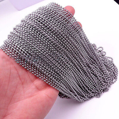 """Hotsale Wholesale In Bulk Stainless Steel Lot DIY Ball Chain Necklace 16""""-36"""""""