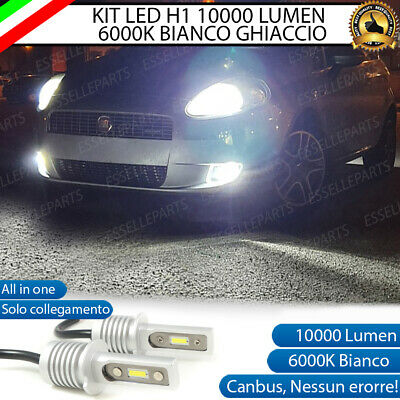 Kit Full Led Fendinebbia Fiat Grande Punto Lampade Led H1 No Error 6000K 6400Lm