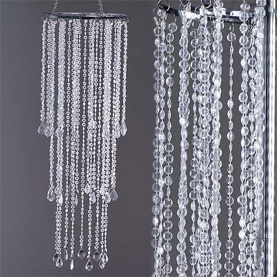 """SILVER METAL 36"""" tall Faux Crystal Beaded Centerpiece Wedding Party Decorations"""