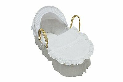 Luxury British Made Moses Basket Covers Bedding Dressing