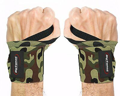 Hawk Weight Lifting Wrist Wraps Bandage rdx Hand Support Gym Straps Fist Camo