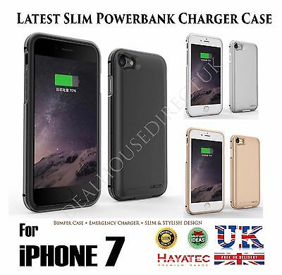 For iPhone 7/7 + Plus Battery Case External Travel Power Pack Charging Cover UK