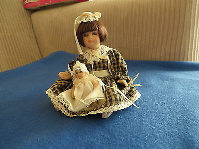 Marie Osmond Porcelain Doll With Infant