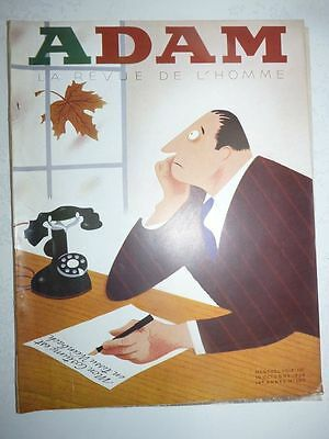 Magazine mode fashion ADAM LA REVUE DE L'HOMME #150 octobre 1938