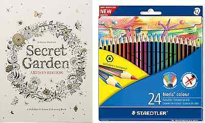 Colouring Pack Secret Garden Artist's Edition Pull-Out and Frame Book &  Pencils