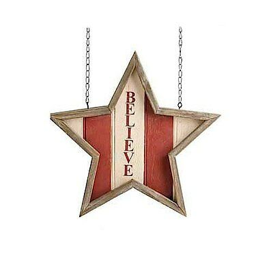 Believe Framed Star Arrow Replacement Sign by K&K Interiors