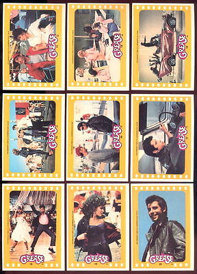 Grease - Series 2 - Complete Sticker Trading Card Set (11) - 1978 TOPPS - NM