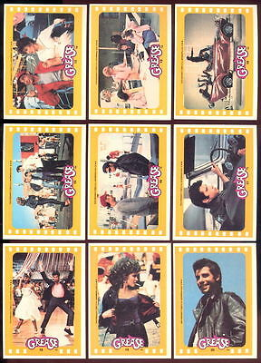 Grease - Series 2 - Sticker Trading Card Set (11) - 1978 TOPPS - NM