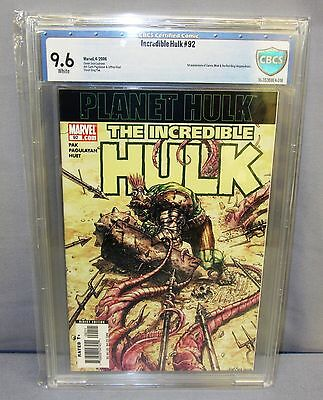 THE INCREDIBLE HULK #92 (1st Print & Miek app ) CBCS 9.6 Marvel 2006 cgc Planet