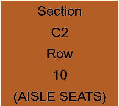 2 x Coldplay Tickets for August 21, 2017 Rogers Centre FLOOR AND AISLE SEATS