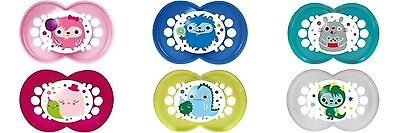 MAM Monsters 2 Pk Baby Pacifier Soother Dummies 4-24 Months Silicone BPA Free