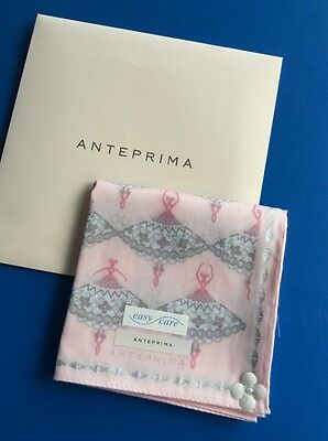 ANTEPPRIMA  Ballet Design In Pink JAPANESE HANKY ~ Easy Care:
