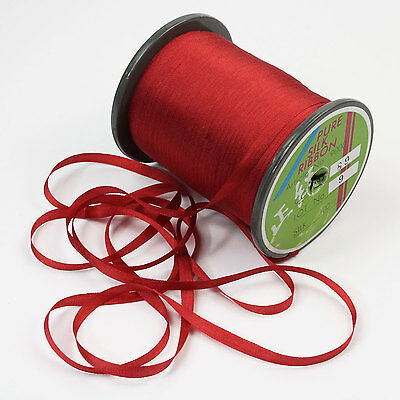 """YLI #89 Pure Silk Embroidery Ribbon Rust Rose Red 4mm 1/8"""" wide from Japan"""