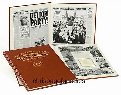 PERSONALISED HORSE RACING NEWSPAPER Book History Gift Present Memorabilia Gifts