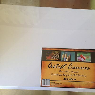 8 x Blank painting canvases Board 30x40cm Wholesale Bulk Buy