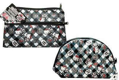 SANRIO Hello Kitty KWAII cute Flat & Roundish fancy Pouch special set F/S JAPAN