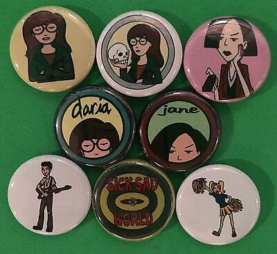 "Daria 1"" buttons pinbacks Mtv 90s"