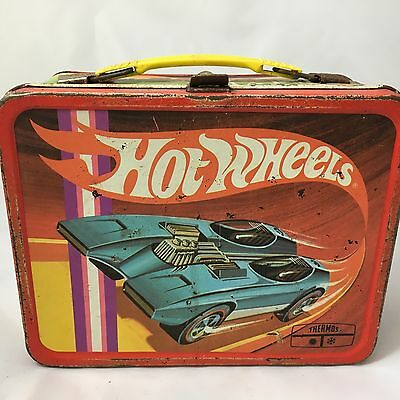 Vintage Hot Wheels Metal Lunchbox 1969 King Seeley Thermos Co.