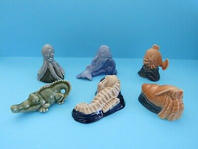 WADE BLOW-UP WATER LIFE SERIES FULL SET SEAHORSE,OCTOPUS,CROCODILE,WHALE *Mint*