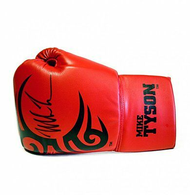 Mike Tyson Signed Tattoo Tyson Branded Glove
