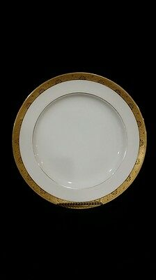 Minton Tiffany H1032 Pattern Lunch / Salad Plate Gold Border