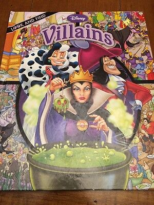 Disney Villains LOOK AND FIND  (2009, Hardcover) BOOK