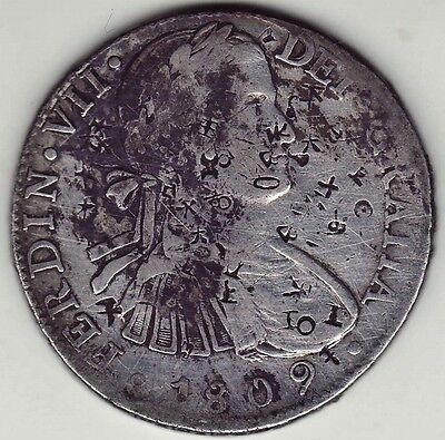 """1809 Eight Reales Spanish Colonial Mexico Mint """"AMERICA'S FIRST SILVER DOLLAR"""""""