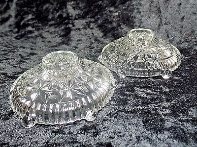 """Pair of Glass Candle Holder 4"""" Simple Elegant"""