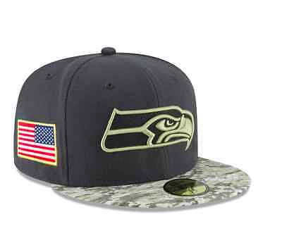 a9dbe38aed7a04 NFL Seattle Seahawks Adult New Era 59FIFTY '16 Salute to Service Fitted Hat